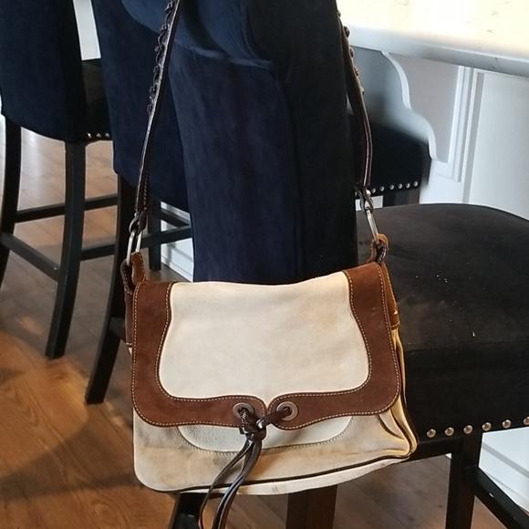 Francesco Biasia Suede Handbag